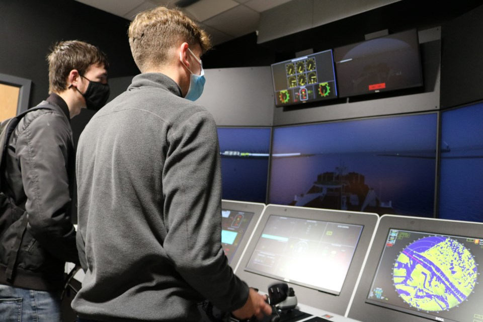 Students at the launch event of East Coast College's Maritime Deck Cadet programme. Picture: East Coast College