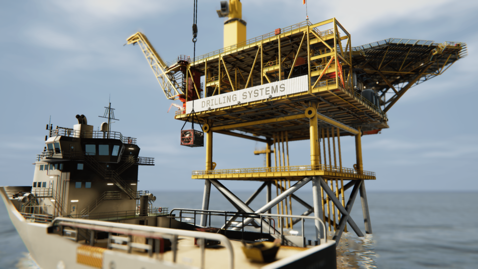 The system delivers a wide range of training environments including fixed installations, floating platforms and vessels