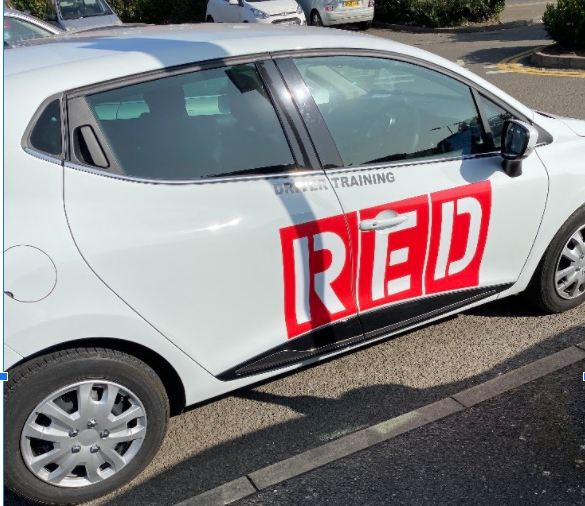 Red driving